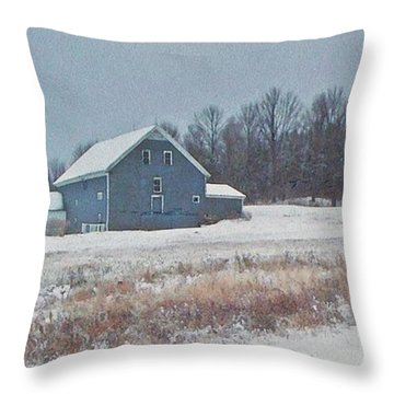 On The Hill Throw Pillow by Joy Nichols