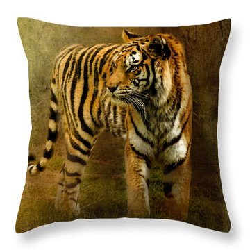 On The Hunt Throw Pillow by Betty LaRue