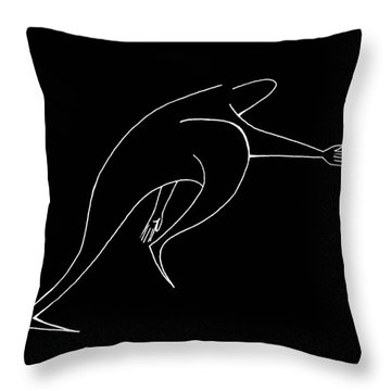 On The Move Throw Pillow by Michelle Calkins