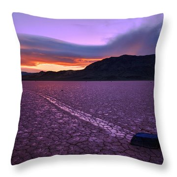 On The Playa Throw Pillow by Chad Dutson
