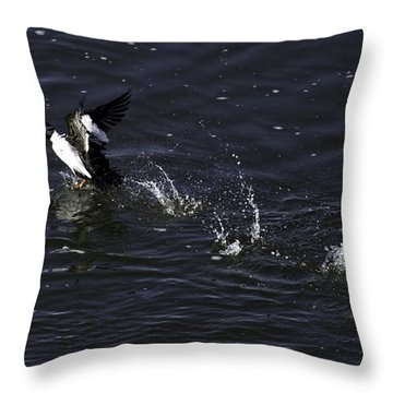 On The Runway Throw Pillow by Thomas Young