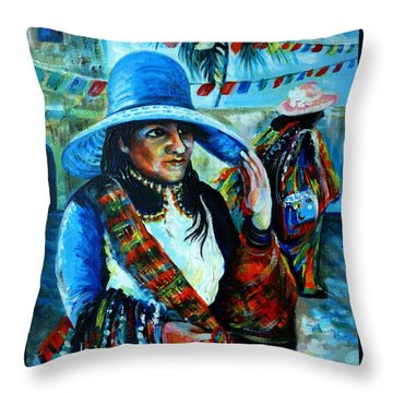 On The Streets Of Bucerias. Part Two Throw Pillow by Anna  Duyunova