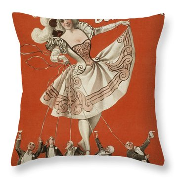 On The String Throw Pillow by Aged Pixel