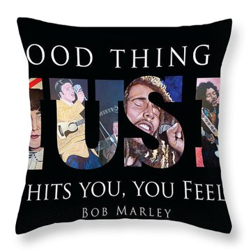 One Good Thing About Music Throw Pillow by Tom Roderick