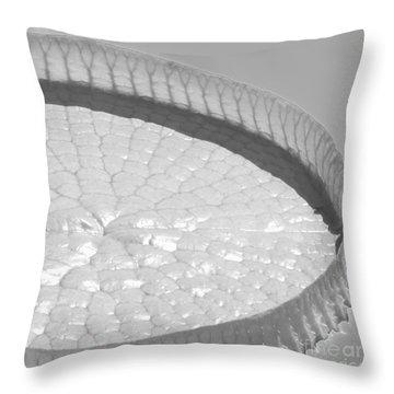 One Huge Lily Pad #3b Throw Pillow by Sabrina L Ryan