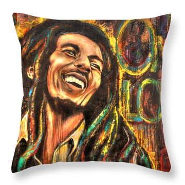 One Love Throw Pillow by Robyn Chance