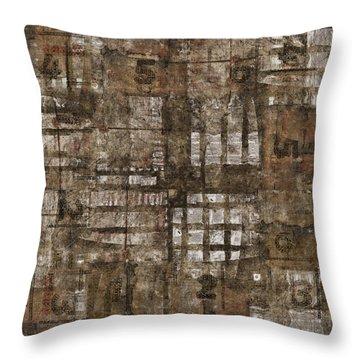 One Through Six Throw Pillow by Carol Leigh