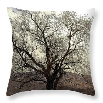 One Tree Throw Pillow by Kathleen Struckle