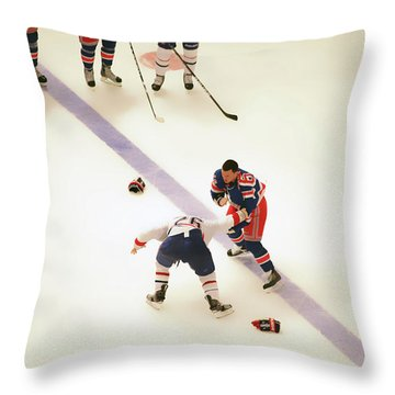 One Two Punch Throw Pillow by Karol Livote