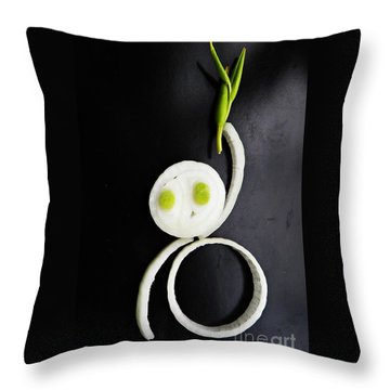 Onion Baby Throw Pillow by Sarah Loft