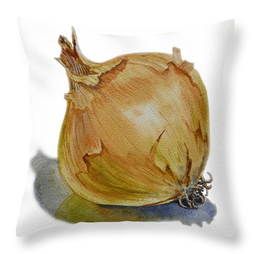 Onion Throw Pillow by Irina Sztukowski