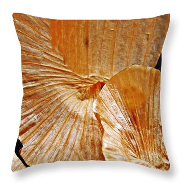 Onion Skin Abstract Throw Pillow by Sarah Loft