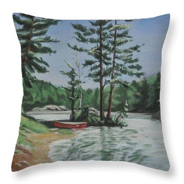 Ontario's Jewel Throw Pillow by Heather Kertzer