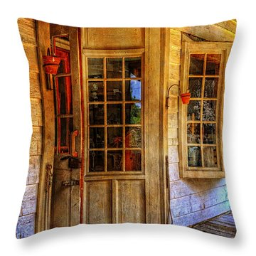 Open For Business Throw Pillow by Lois Bryan