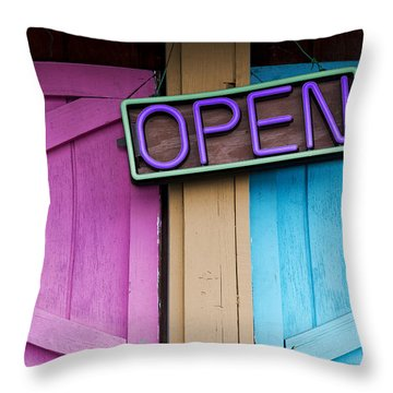 Open Throw Pillow by Paul Wear
