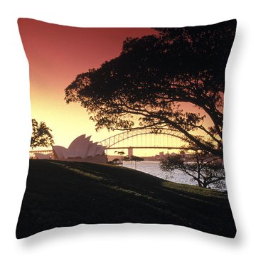 Opera Tree Throw Pillow by Sean Davey