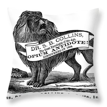 Opium Antidote, 1876 Throw Pillow by Granger