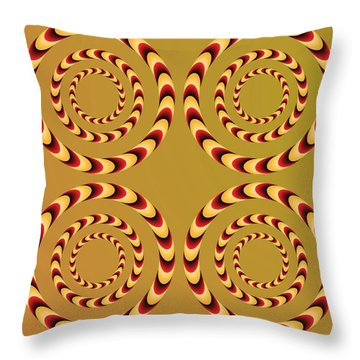 Optical Ilusions Summer Spin Throw Pillow by Sumit Mehndiratta