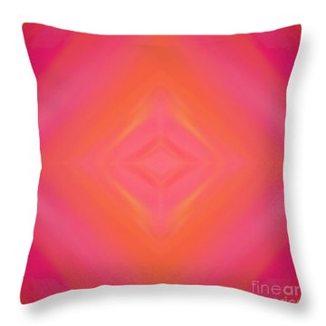 Orange And Raspberry Sorbet Abstract 4 Throw Pillow by Andee Design