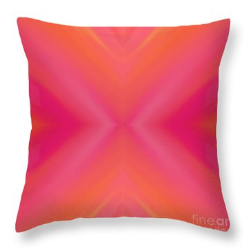 Orange And Raspberry Sorbet Abstract 7 Throw Pillow by Andee Design