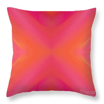 Orange And Raspberry Sorbet Abstract 8 Throw Pillow by Andee Design