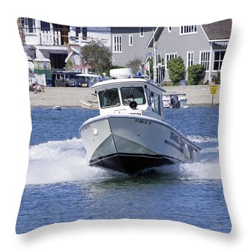 Orange County Sheriffs At Work Throw Pillow by Shoal Hollingsworth