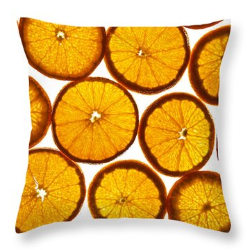 Orange Fresh Throw Pillow by Vitaliy Gladkiy
