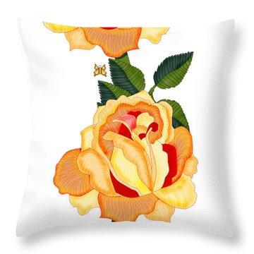 Orange Glow Throw Pillow by Anne Norskog