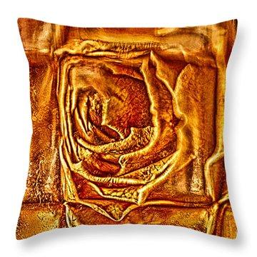 Orange Rose Throw Pillow by Omaste Witkowski