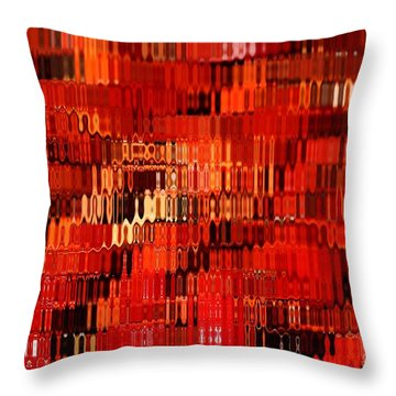 Orange Under Glass Abstract Throw Pillow by Carol Groenen