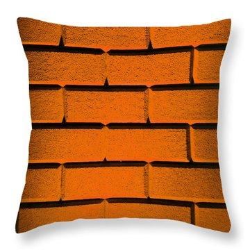 Orange Wall Throw Pillow by Semmick Photo