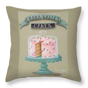 Orara Valley Cakes Throw Pillow by Catherine Holman
