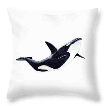 Orca - Killer Whale Throw Pillow by Michael Vigliotti