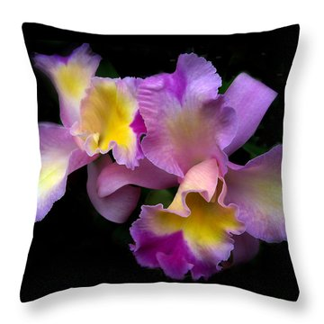Orchid Embrace Throw Pillow by Jessica Jenney