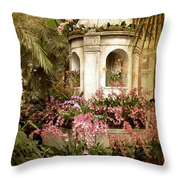 Orchid Exhibition Throw Pillow by Jessica Jenney