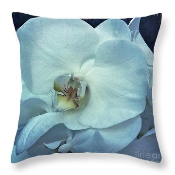 Orchid Throw Pillow by Nina Prommer