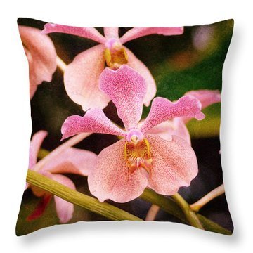 Orchid Number 17 Throw Pillow by Floyd Menezes