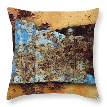 Oregon Map Throw Pillow by Marvin Blaine