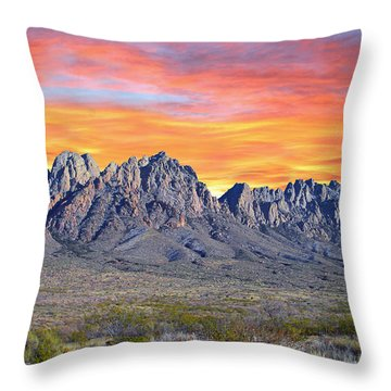 Organ Mountain Sunrise Throw Pillow by Jack Pumphrey