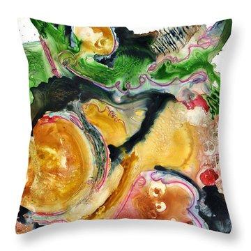 Organic Abstract Art Throw Pillow by Blenda Studio