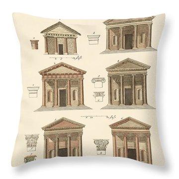 Origin And Development Of Architecture Throw Pillow by Splendid Art Prints
