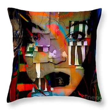 Original Abstract Throw Pillow by Marvin Blaine