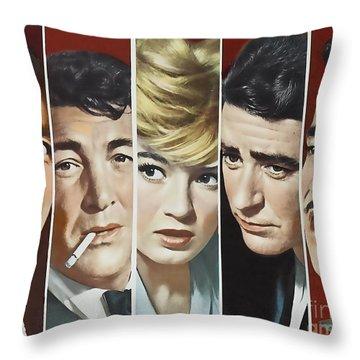 Original Oceans 11 Cast Throw Pillow by Marvin Blaine
