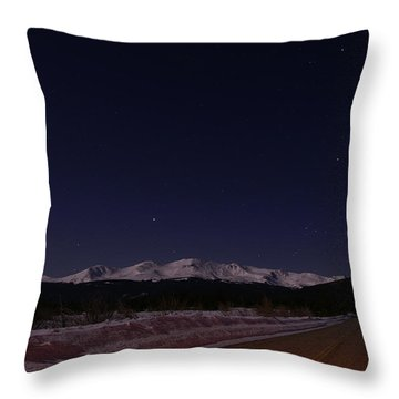 Orion's Descent Throw Pillow by Jeremy Rhoades