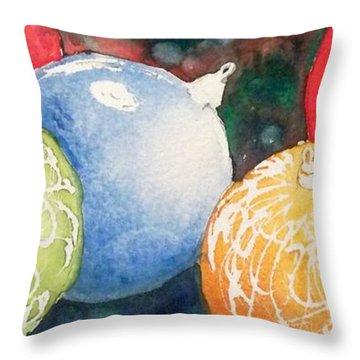 Ornaments Throw Pillow by Yoshiko Mishina