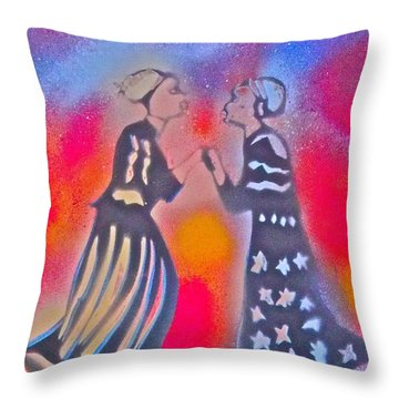 Oshun And Yemaya Throw Pillow by Tony B Conscious
