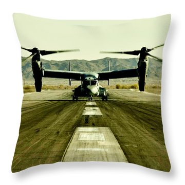 Osprey Takeoff Throw Pillow by Benjamin Yeager