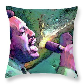 Otis Redding Throw Pillow by John Travisano