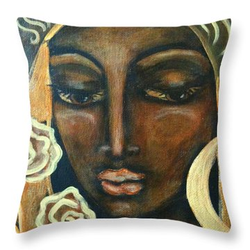 Our Lady Of Infinite Possibilities Throw Pillow by Maya Telford