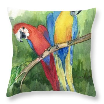Out For Lunch In The Wild Throw Pillow by Maria Hunt